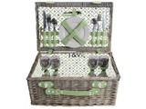 """Luxe picknickmanden """"Big Greeny"""" voor 4 personen (met inhoud)"""