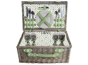 "Luxury picnic baskets ""Big Greeny"" for 4 people"