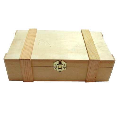 2 compartiments caisses de vin en bois avec couvercleà charni u00e8re acheter avec des moulures  # Acheter Des Caisses En Bois