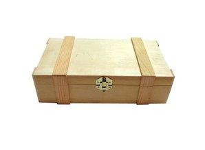 2-rums træ vin kasser købe med hængslet låg med lister?