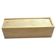1-bin wine boxes with sliding lid (blank wood)