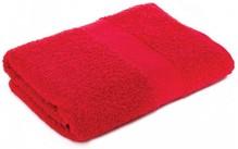 Badstof handdoeken in de kleur rood (afmeting 50 x 100 cm)