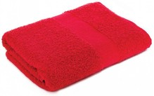 Terry towels in red (size 50 x 100 cm)