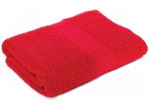 Badstof handdoeken in de kleur rood (50 x 100 cm)