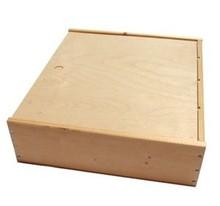 Billige 6-rum træ vin kasser med træ skydelåg (blank træ)