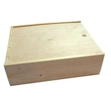 Cheap three-bin wine boxes with sliding lid (size inside dimension 370 x 340 x 108 mm)