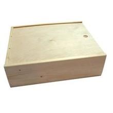 Евтини три бен кутии за вино с плъзгащо се капаче (размер вътрешни размери: 370 х 340 х 108 mm)