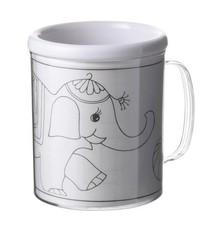 Регистрирай се чаши за деца, двойни стени пластмаса (с три сменяеми страници за оцветяване)