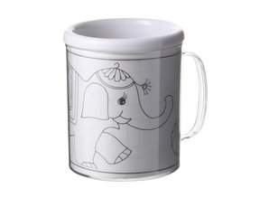Sign mugs for children with three interchangeable coloring!