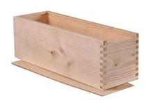 Cheap whitewood Magnum wine boxes with sliding lid (inside dimensions 40 x 12 x 12 cm)