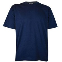 Dark T-Shirts! Cheap dark blue T-shirts with short sleeves and round neck (100% cotton)