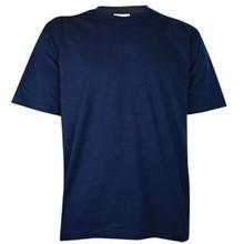 Mørke T-shirts! Billige mørkeblå T-shirts med korte ærmer og rund hals (100% bomuld)