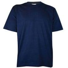 Тъмните тениски! Евтини тъмносини тениски с къс ръкав и обло деколте (100% памук)