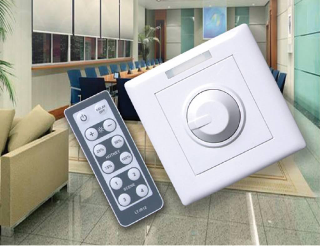 LED Muurdimmer met afstandsbediening