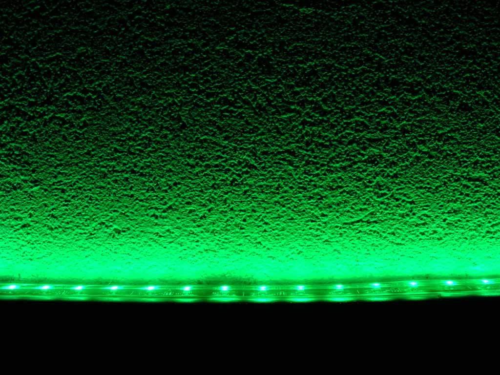 LED en bande auto-adhésive Étanche Vert par 50cm