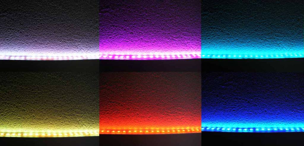 Striscia Luminosa a LED 60 LED/m RGB impermeabile (IP68) - per 50cm
