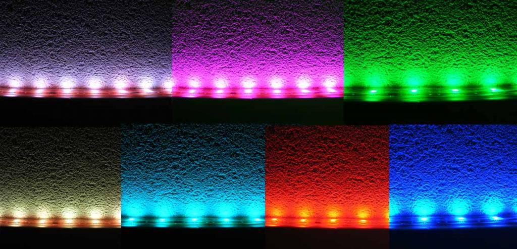 Tira led flexible rgb impermeable ip68 30 leds m por for Tiras led de colores