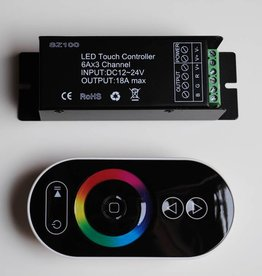 RGB Controller with touch-wheel remote Black - 6 Key