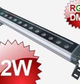 24V Wallwasher LED 12x1W RVB