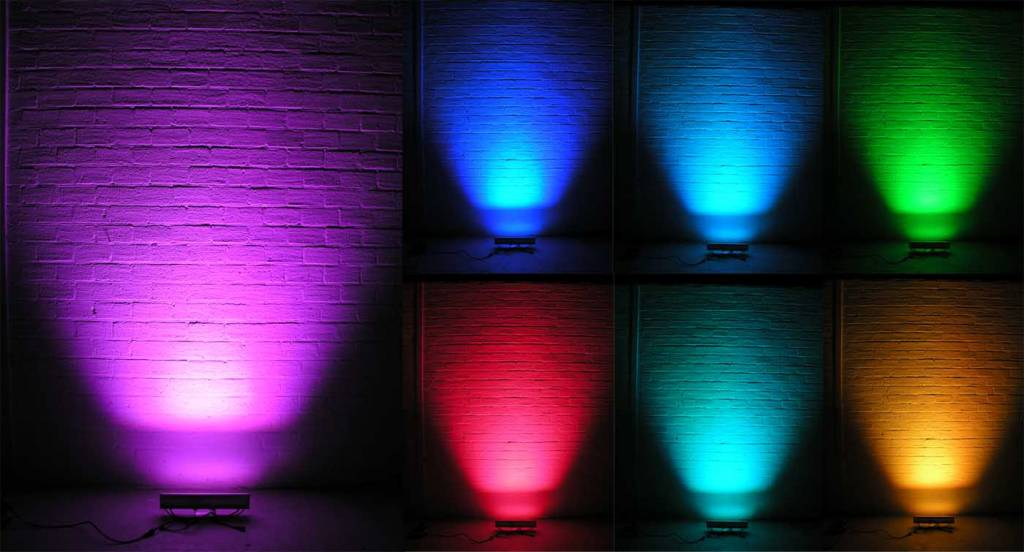 24V Wall Washer 12x1W RGB DMX