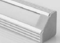 Aluminium Winkelschiene 1 Meter - 45 Grad