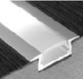 Profil en aluminium 1 mètre - 5 mm d'épaisseur