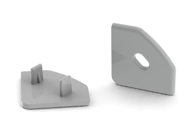 End cap for angular LED Strip aluminium profile 45 degrees