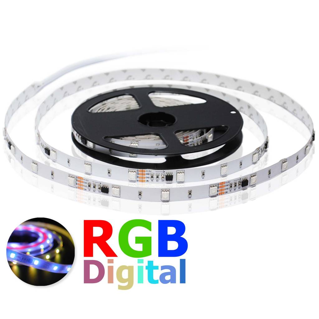 digital rgb 30 led m flexible led strip per 50cm. Black Bedroom Furniture Sets. Home Design Ideas
