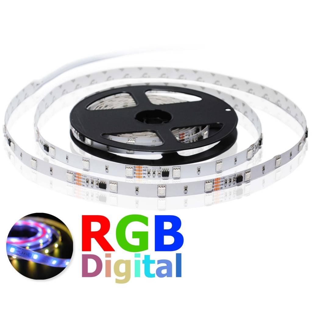 Tira LED Flexible 30 LED/m Digital RGB - por 50cm