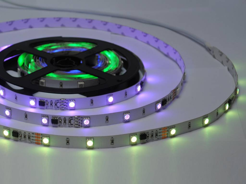 Digital RGB 30 LED/m Flexible LED Strip - per 50cm