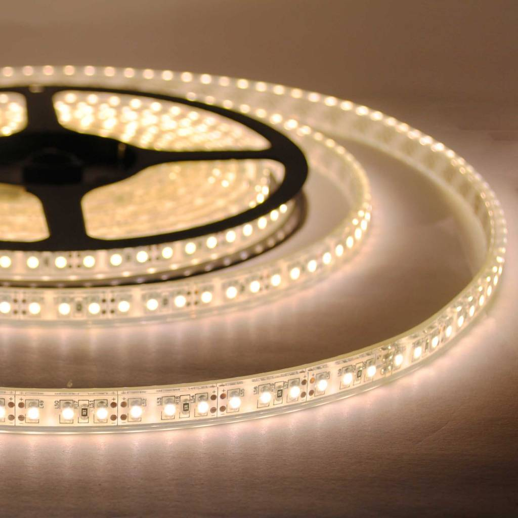 led strip warm white 120 led m waterproof per 50cm. Black Bedroom Furniture Sets. Home Design Ideas