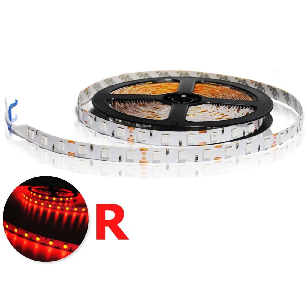 LED en bande auto-adhésive 5050 60 LED/m Rouge - par 50cm