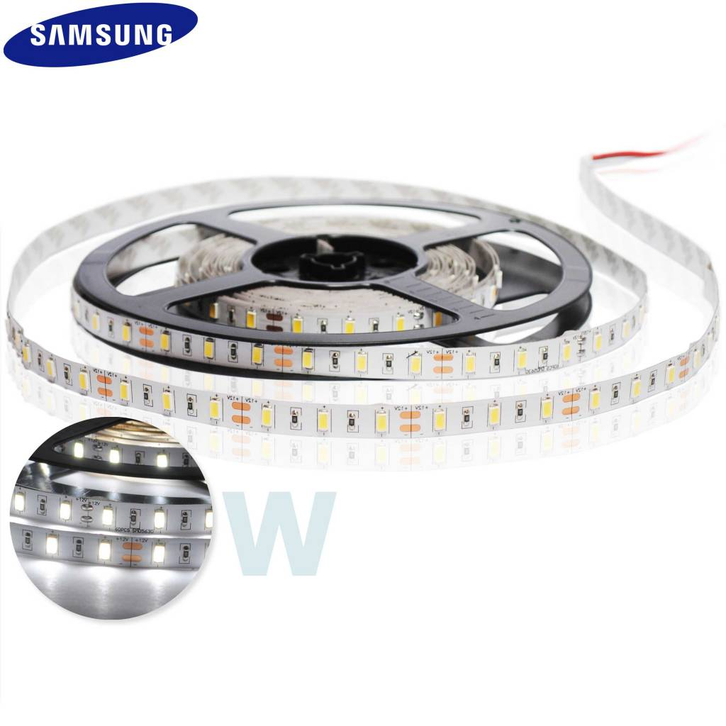 LED Strip 5630 SMD 60 LED/m White - per 50cm
