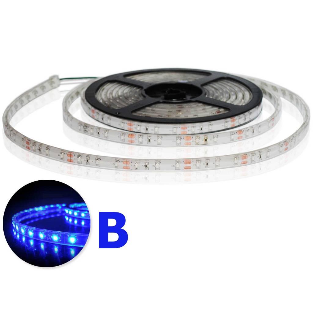 LED Strip Flexibel Waterdicht IP68 Blauw per 50cm