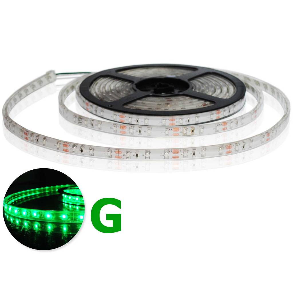LED Strip Green Waterproof - per 50cm