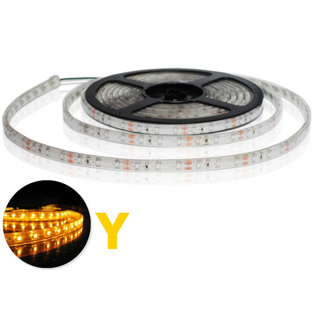 Tira LED Flexible Amarillo Impermeable (IP68) - por 50cm