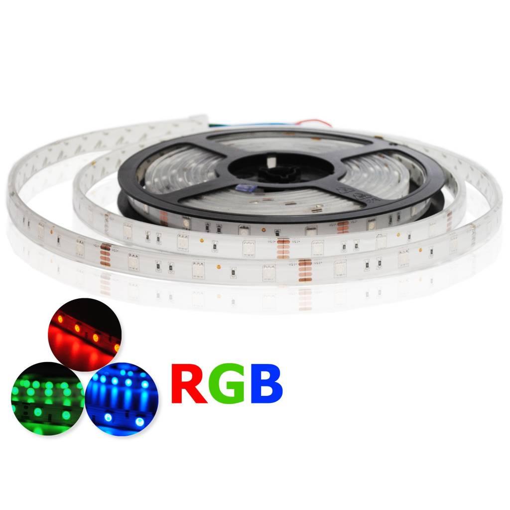 led streifen rgb 30 leds m wasserdicht je 50cm. Black Bedroom Furniture Sets. Home Design Ideas