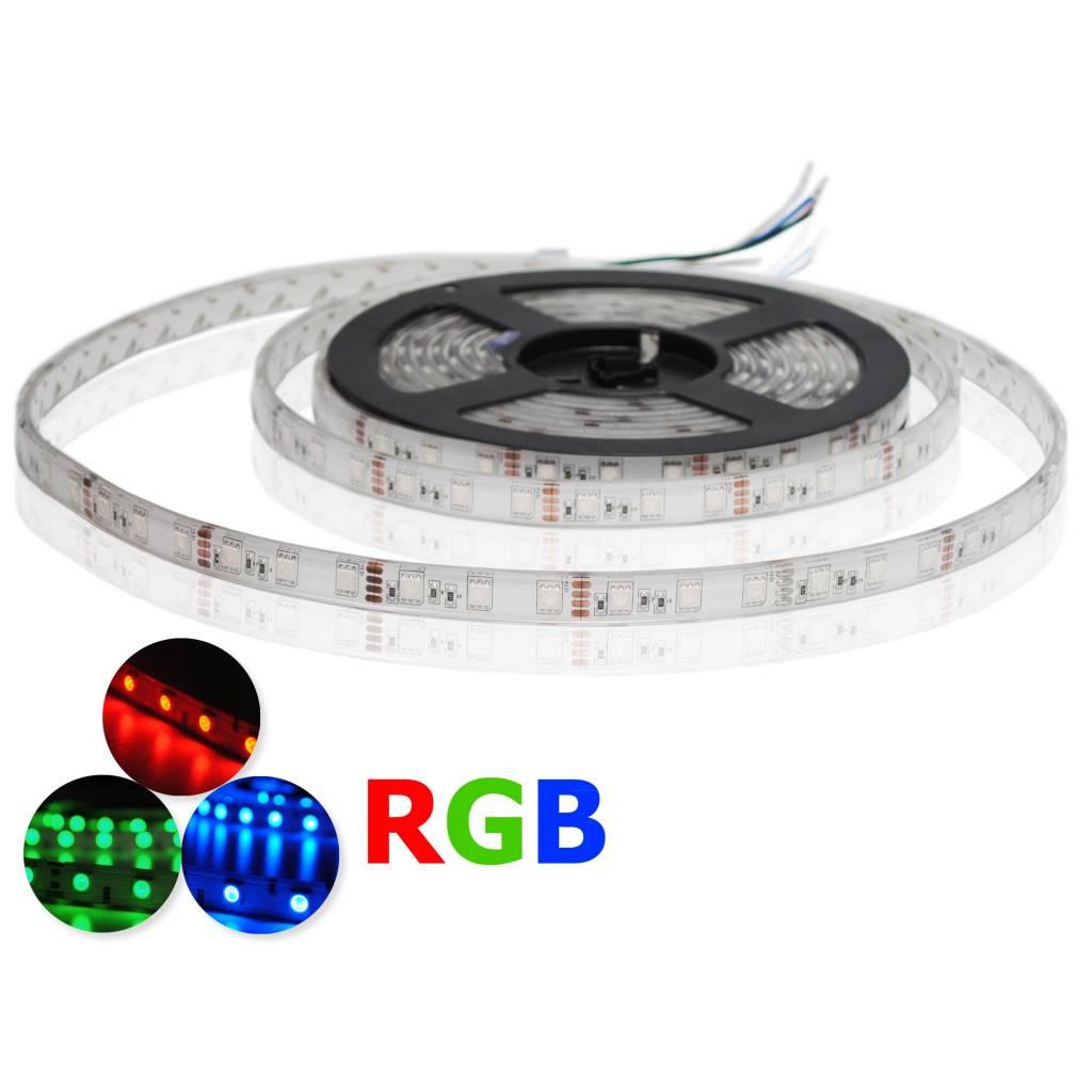 led strip flexible rgb 60 leds m waterproof ip68 per. Black Bedroom Furniture Sets. Home Design Ideas