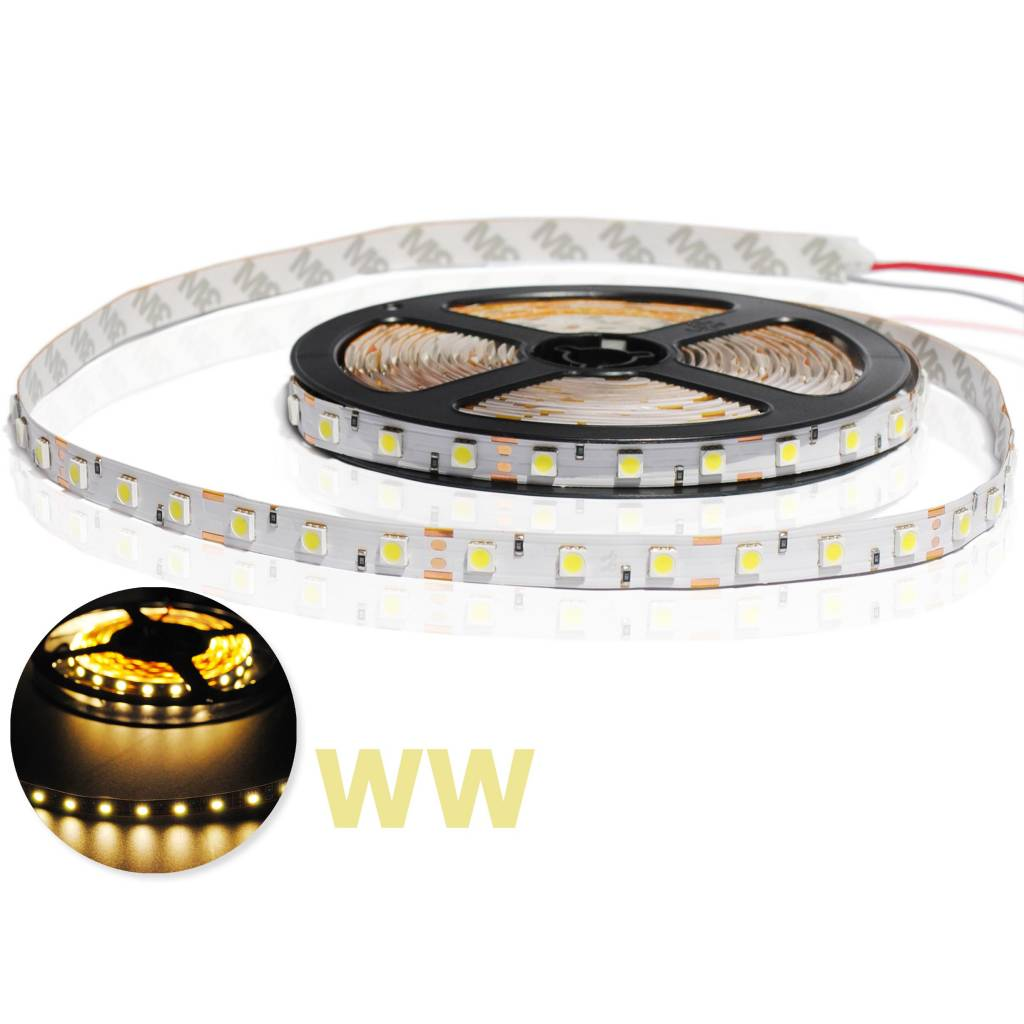 Led Strip Flexibel 5050 60 LED/m Warm Wit per 50cm