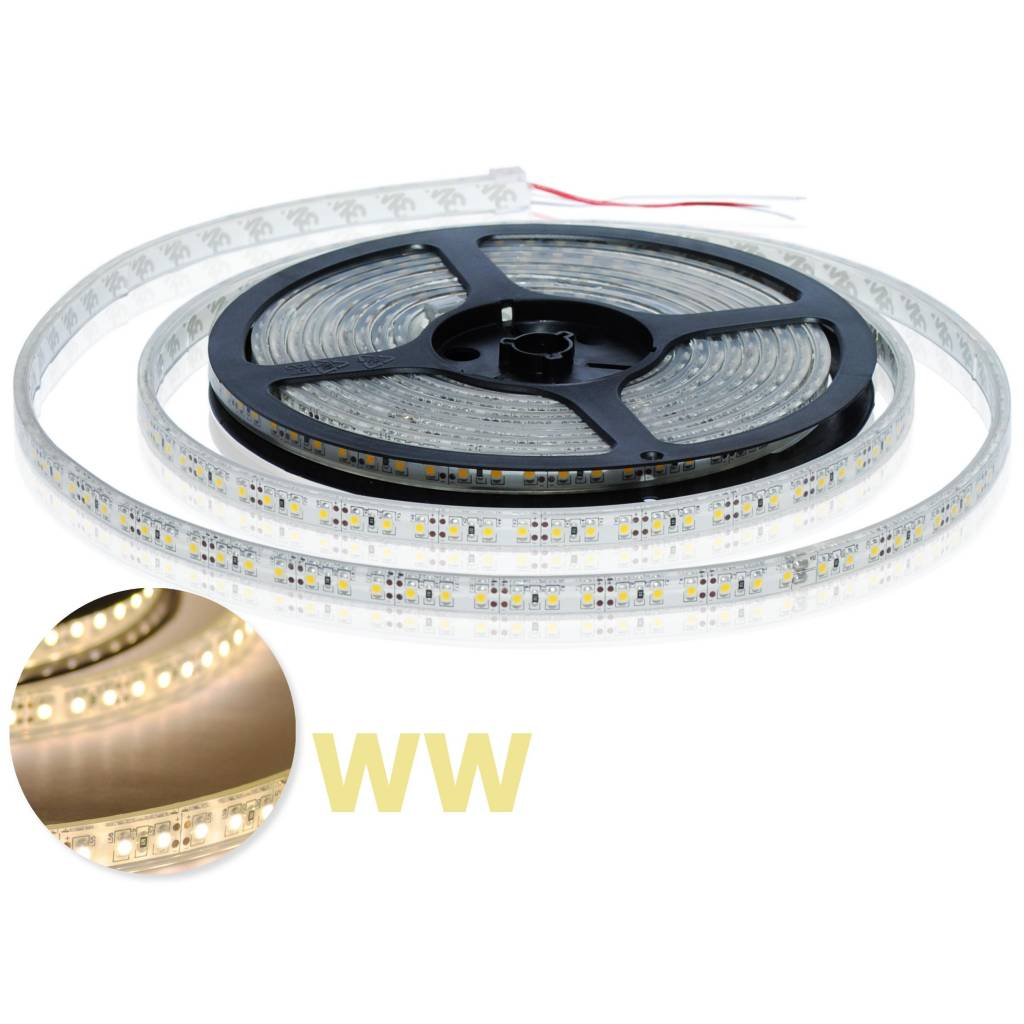 LED Strip Flexibel Warm Wit 120 LED/m IP68 Waterdicht - per 50cm
