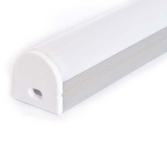 Perfil de aluminio redondeado 1 Metro