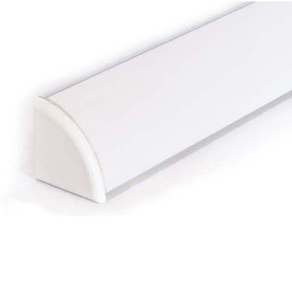 Aluminium LED Strip hoekprofiel Rounded 1 meter - 45 Graden
