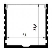 Profilo in alluminio XL 1 Metro