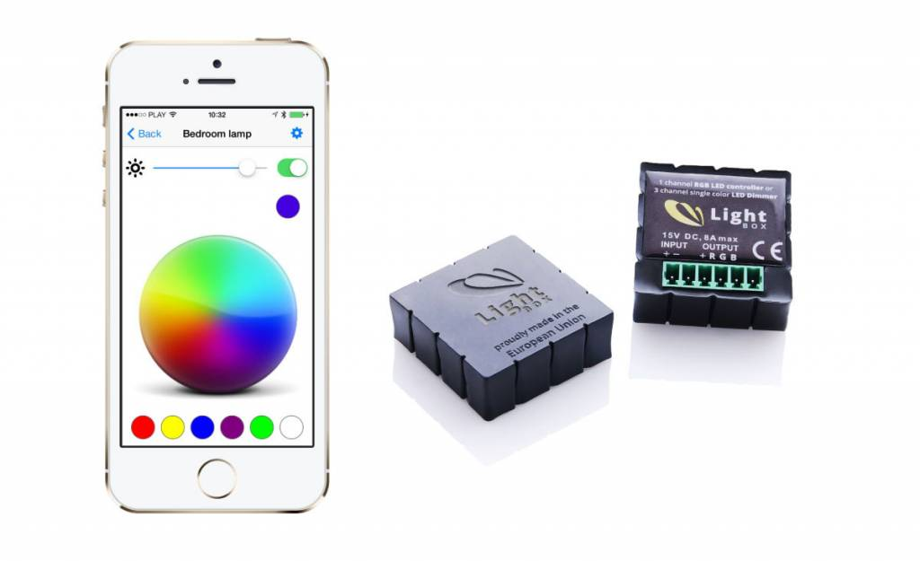Controlador RGB con Bluetooth - Ajuste el color de Tira LED RGB con su smartphone!
