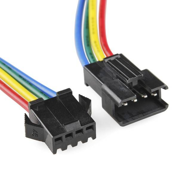 connecteur male femelle 4 fils