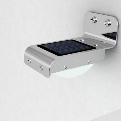 Luz led solar exterior l mpara de seguridad para el for Lampara solar pared exterior