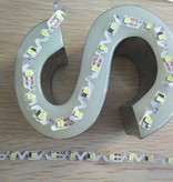 LED S-Shape-Strip 2538 60 LED/m White - per 50cm