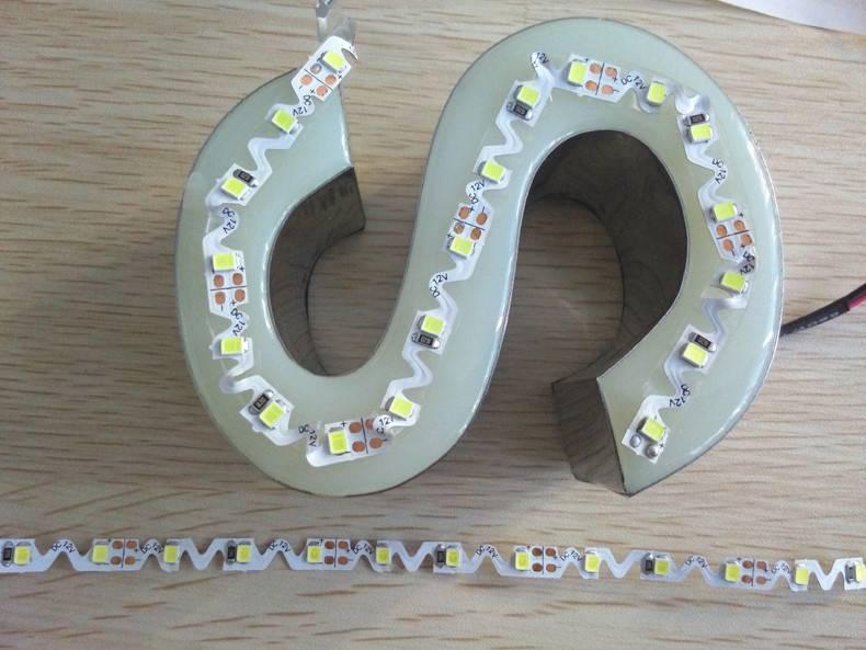 LED S-Shape-Strip 2835 60 LED/m White - per 50cm