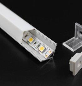 Profil en aluminium 1 mètre angulaire carré - 45 degrés
