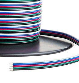 Fil électrique (RGBW, 5 veines) par mètre